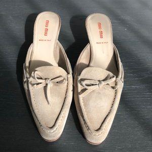 Vintage Nude Miu Miu Mules